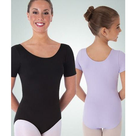 Body Wrappers Bodysuit with Short Sleeves