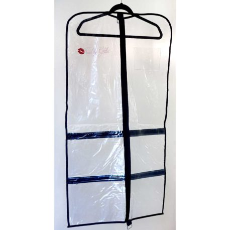 Kissed By Glitter Clear Garment Bags