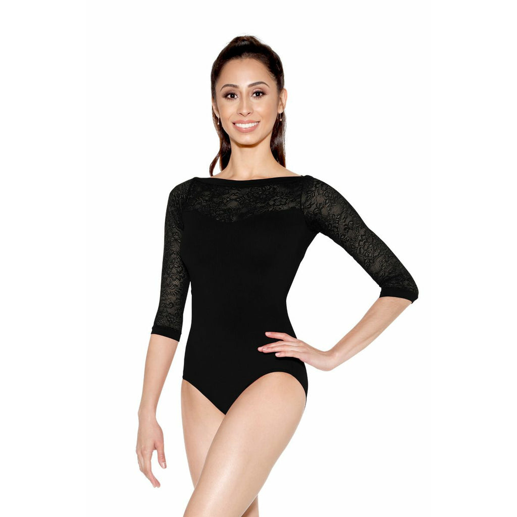 SoDanca Half Sleeve Lace Leotard