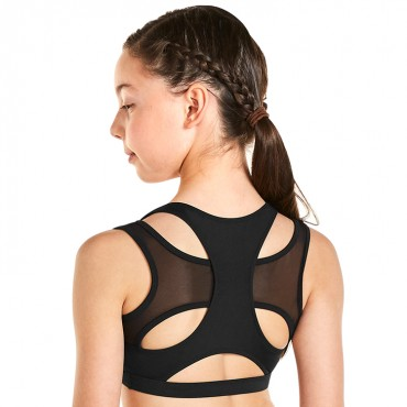 Kaia Mesh Open Back Crop Top