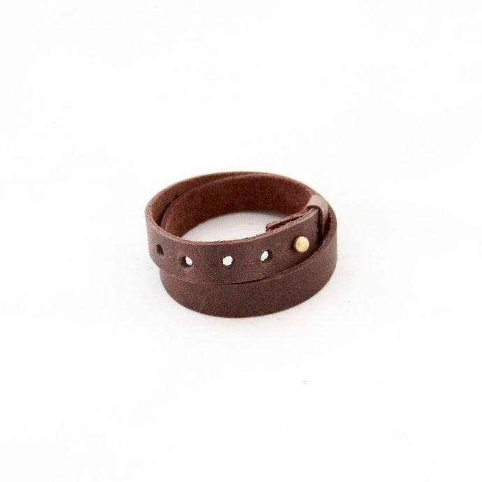 Ivy Leather Wrap Bracelet