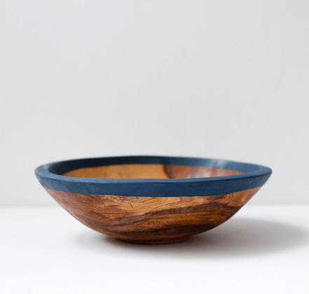 olive wood serving bowl