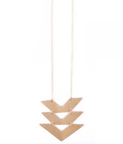 Cropped Chevron Necklace