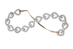 Golden Forest Beaded Headband