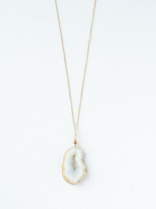 Glittering Geode Necklace