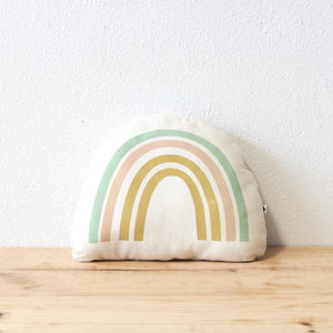 Canvas Rainbow Pillow