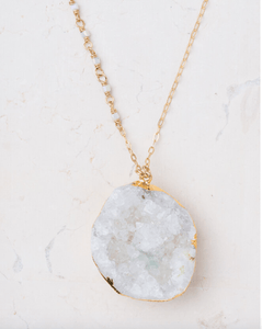 Mae White Crystal Necklace