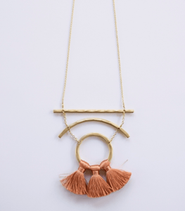Moonbeam Tassel Necklace