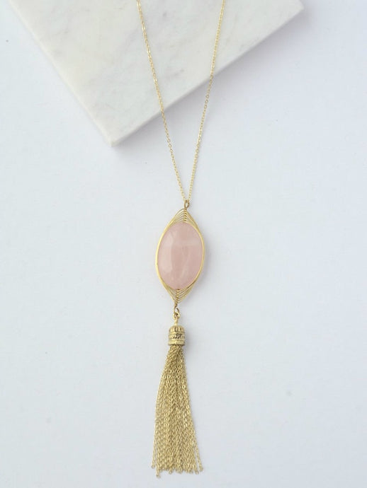 Barbara Gold Tassel Necklace