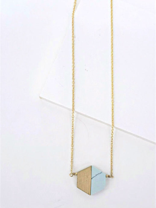 marble gold necklace