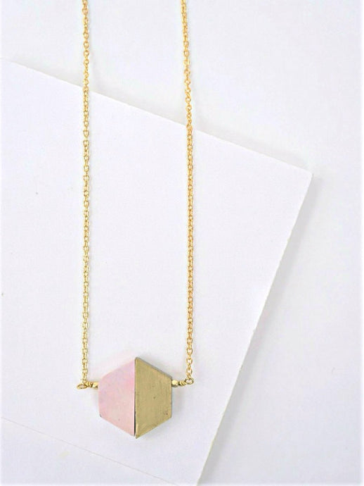 Balanced Geometry Necklace