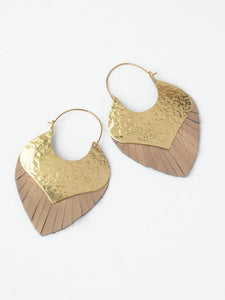earrings gold leather jewelry hoops