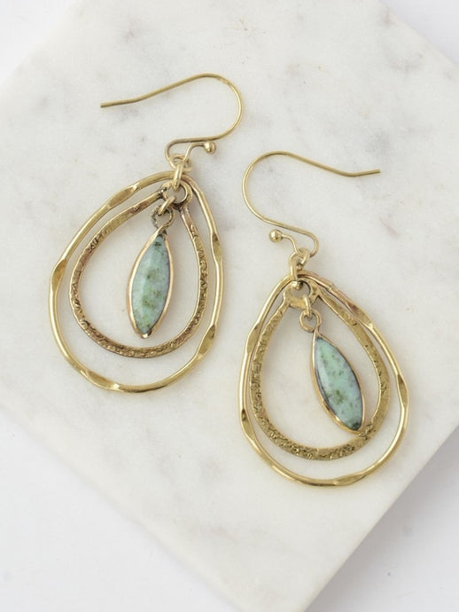 gold dangle earrings handmade