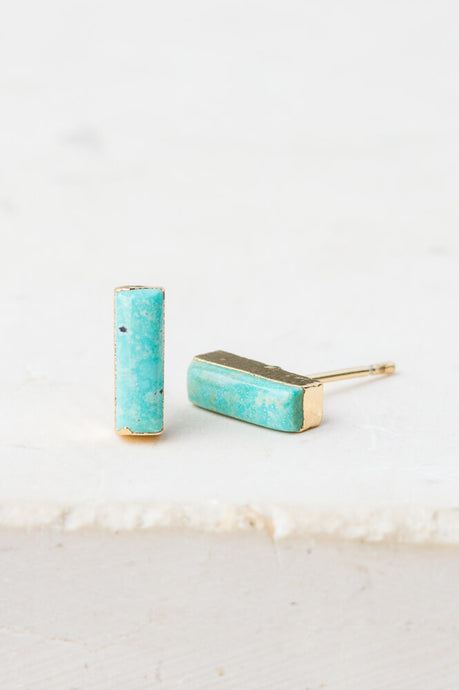 Lucy Turquoise Studs