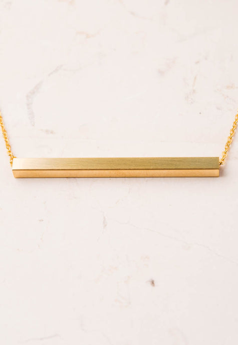 Madelyn Gold Bar Necklace