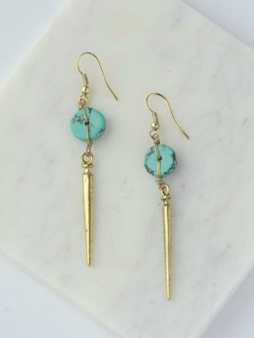 Pointed Charm Turquoise Earrings