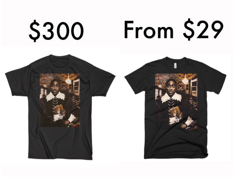 a2db641774fab The Shakurspeare Tee Collection is inspired by the iconic  Shakurspeare   painting created by Darrin Keith Bastfield for which Tupac Shakur expressed  his ...