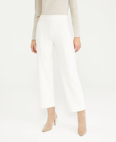 The Easy Straight Crop Pant in Winter White