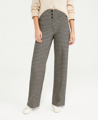 The Full Length Knit Pant in Black Multi