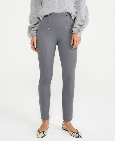 The Sailor Skinny Ankle Pant in Charcoal Grey