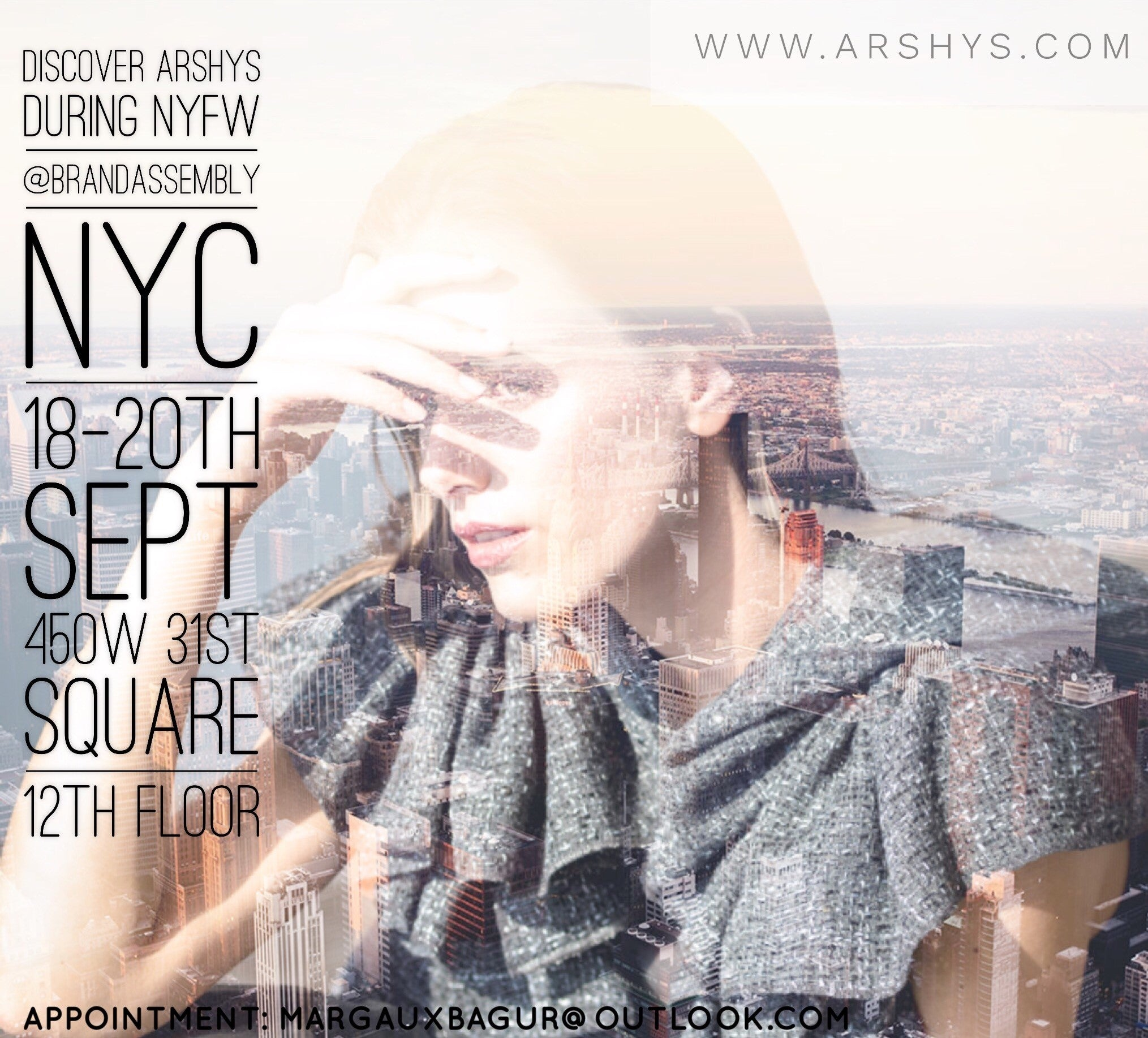 ARSHYS showcase at New York during NYFW