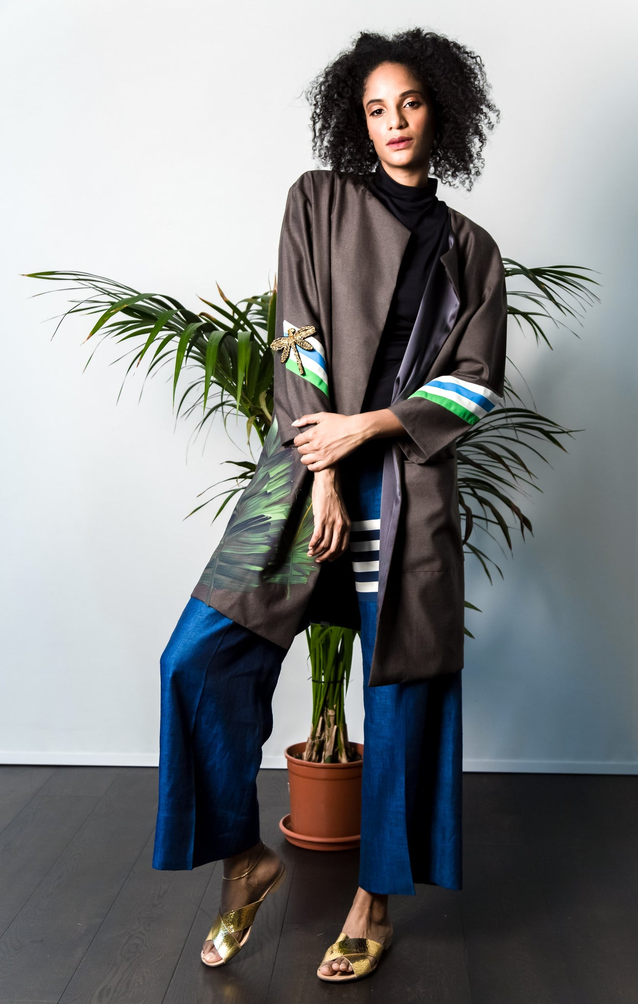 arshys dragonfly striped coat