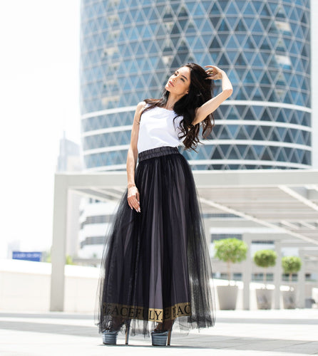 Tulle statement skirt