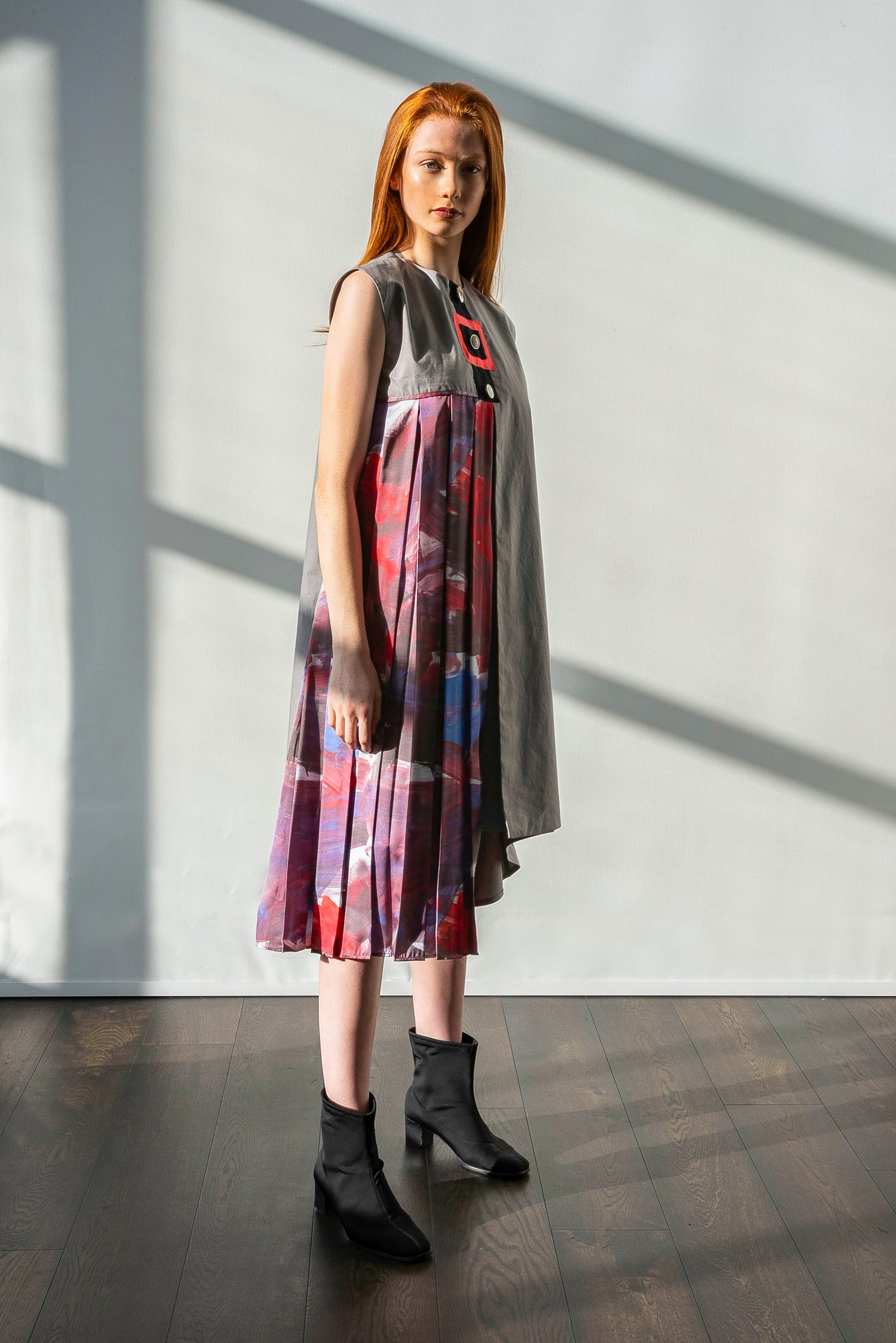 Arshys-Gustav pleated dress