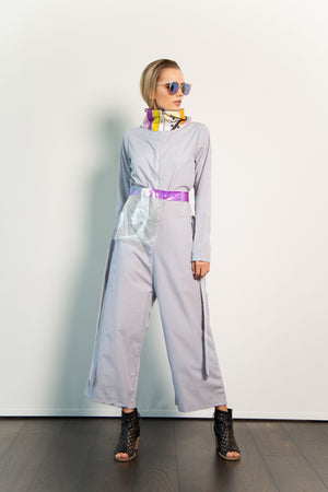 Funnel-neck Jumpsuit