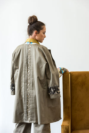 Starry sequin coat