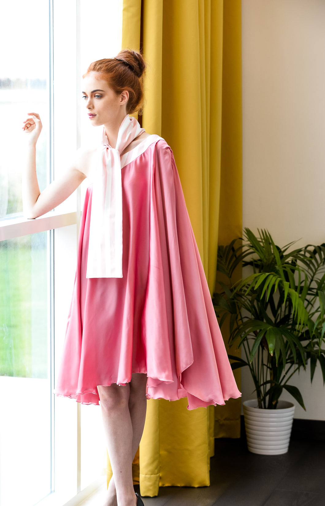 ARSHYS PINK VOLUME DRESS