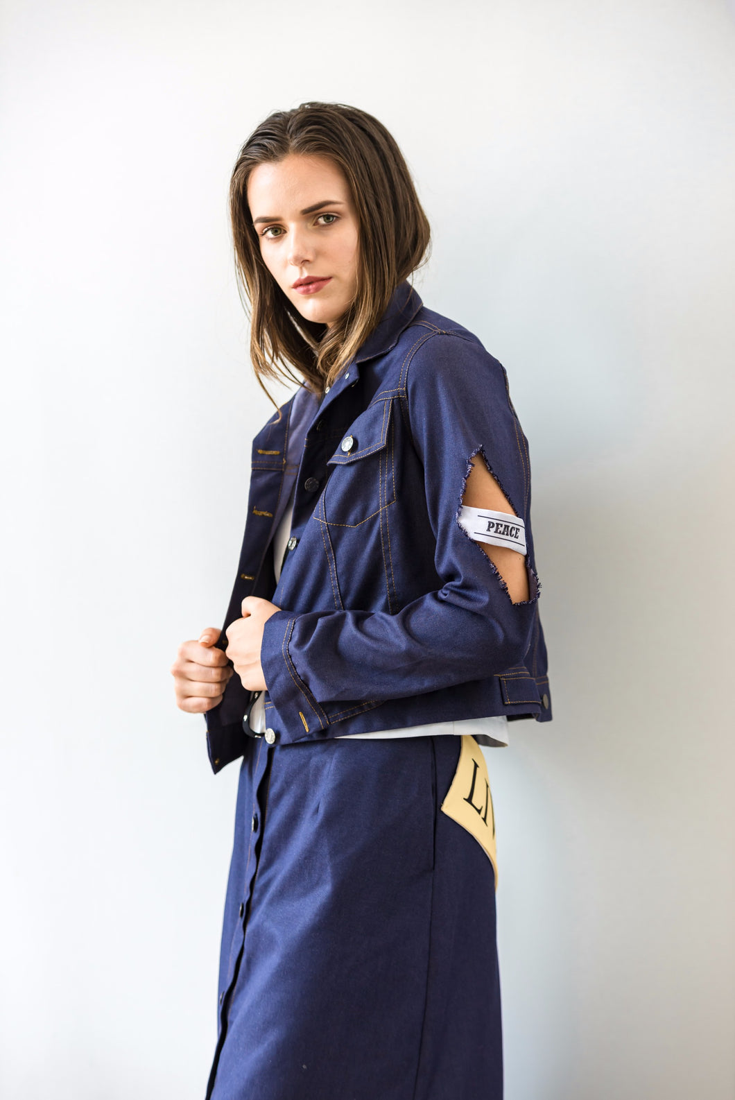 ARSHYS DENIM PEACE JACKET