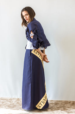 denim jacket and skirt set