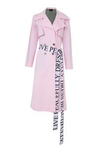 Pink Statement Trench