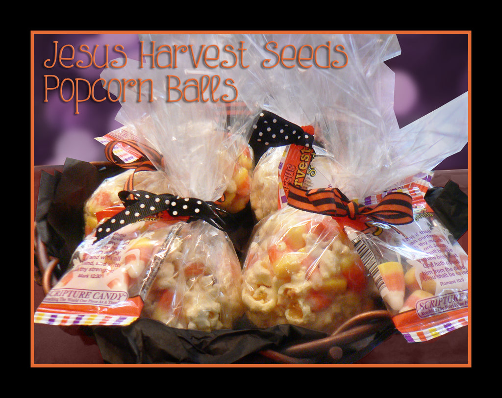 Enjoy our Harvest Seed Popcorn Ball Recipe!