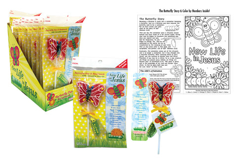 Butterfly Pop & Bookmark Set