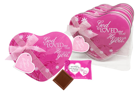 NEW! - God So Loved Me Mother's Day Heart Tin