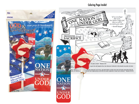 God and Country Star Pop and Bookmark Set