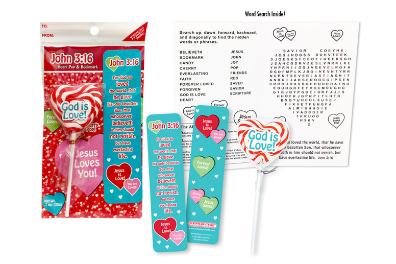 Heart Pop & Bookmark Set