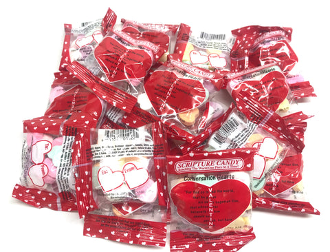 Scripture Candy, Conversation Hearts Bag, 17 Count