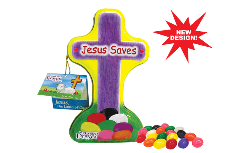 Jelly Bean Prayer Cross Tin
