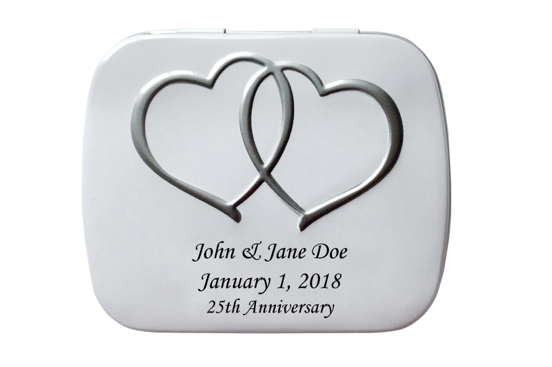 personalized wedding anniversary tins scripture candy