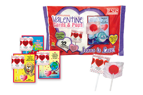 Valentine Pops and Cards Bag, 32 count