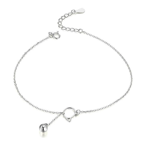 Sterling Silver Cat Ears Anklet | NineLivesCats