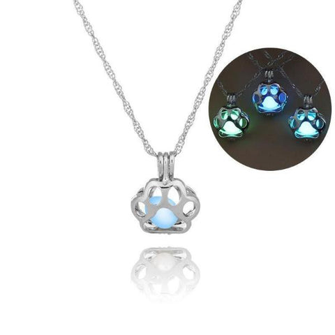 Glowing Paw Necklace