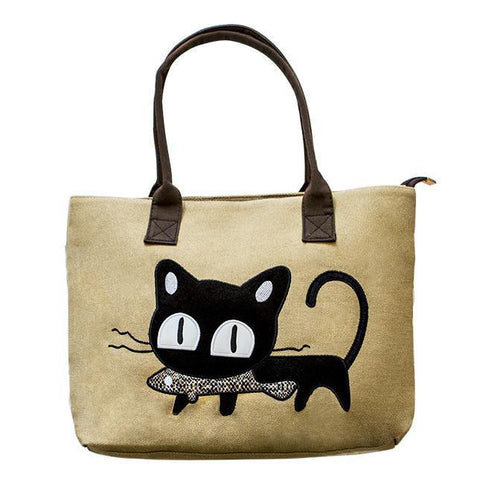 Canvas Cat tote Bag