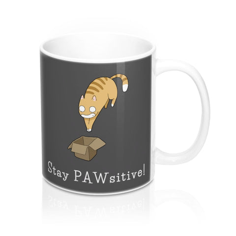 Stay Pawsitive Gift Coffee Mug | NineLivesCats
