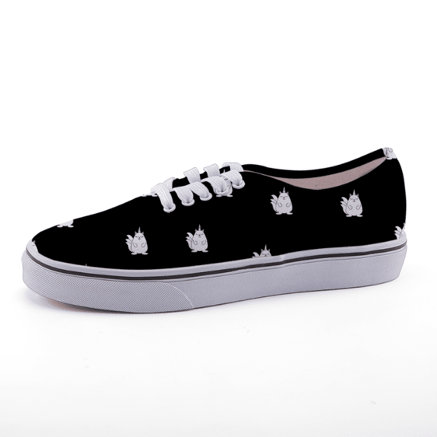 Low Top Black Caticorn Sneakers