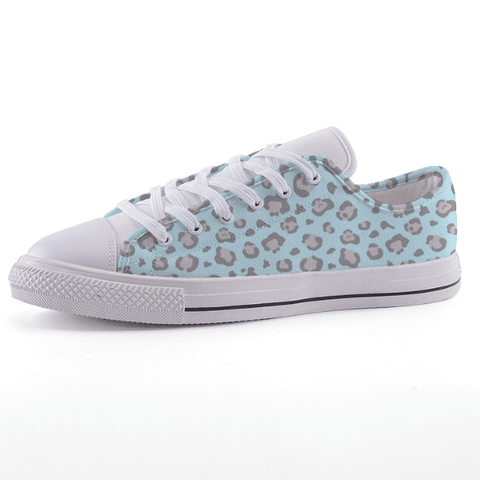 Low Top Aqua Leopard Sneakers