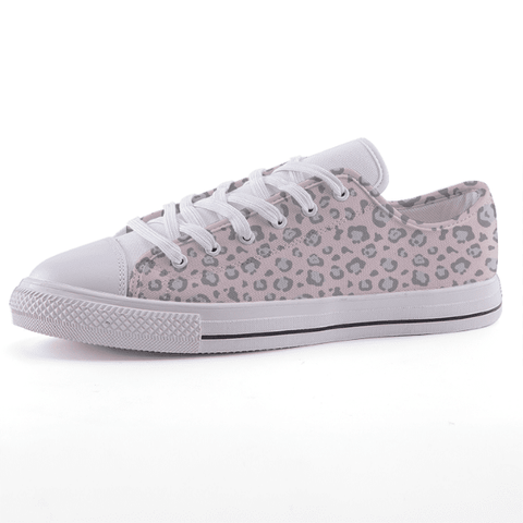 Low Top Pink Leopard Sneakers